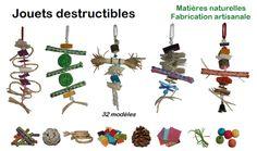 destructible toys for budgies, parakeets and parrots