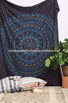 Cotton MANDALA Indian Tapestry Wall Hanging Hippie Wall Tapestries