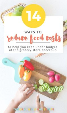 Groceries is one area that can get waaay out of control if you don't set yourself limits. There are a few ways we can reduce food costs and eliminate food wastage that will keep you under your budget at the grocery store checkout. Organised Housewife, Food Cost, Budgeting Finances, Frugal Tips, Food Hacks, Food Tips, Budget Meals, Lose Belly Fat, Money Saving Tips