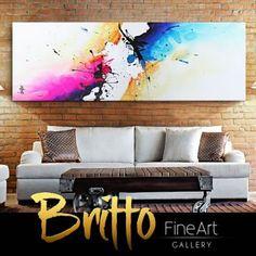 Quadros Abstratos Decorativos 150cm x 50cm QB139