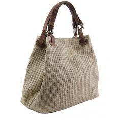 Italian Made, Genuine Leather Sholderbag / Handbag - Tess Taupe Sky How To Make Handbags, Workwear, Leather Handbags, Taupe, Italy, Sky, Fashion, Beige, Heaven