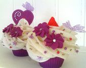 Less fattening type of cupcake. Would make a good centrepiece for your tea party.