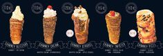 Trdelnik Chimney (modern trdelnik with filling/ice cream) @ GOOD FOOD bakery (address: Karlova 8, Prague)