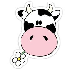 'Cow munching flower' Sticker by Cartoon Drawings, Easy Drawings, Cow Drawing Easy, Cartoon Stickers, Cute Stickers, Simple Cartoon, Cute Cartoon, Cartoon Cow Face, Cow Clipart