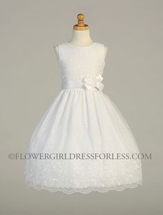 First Holy Communion Dress Style SP110 - SALE White size 6.10x or 12x $39.99