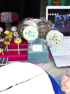 Cake pops at the food fair.