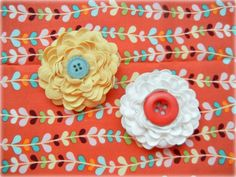 Ric Rac flowers from Ribbon Retreat--what a fabulous way to embellish handmade items! I'm gonna get me some and try it!