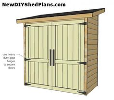 Small Shed Plans | Storage Shed Plans | How To Build A Small Garden Storage Shed ...