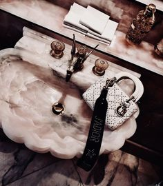 @rosyavenue Rose Gold Aesthetic, House Essentials, Vanity Room, Stay Classy, Dream Decor, Room Inspiration, Pretty In Pink, Purses And Bags, Dior