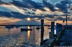 Hampton New Hampshire Harbor at Sunset