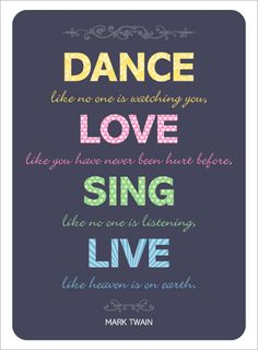 Totally Not Mark Twain but whatever Brittany and Daniel. | Dance. Love. Sing. Live.