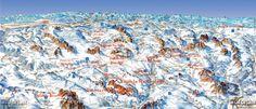 Le funivie del Dolomiti Superski. Grand Canyon, City Photo, Places, Nature, Travel, Viajes, Naturaleza, Destinations, Traveling