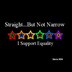 Straight... but not narrow.