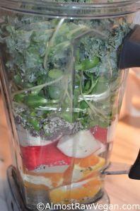 Orange Apple Kale Smoothy | Almost Raw Vegan