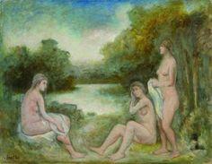 8. Nello stesso momento il mimo, una volta finito di bere si addormenta sulle rive del fiume e sogna delle bagnanti