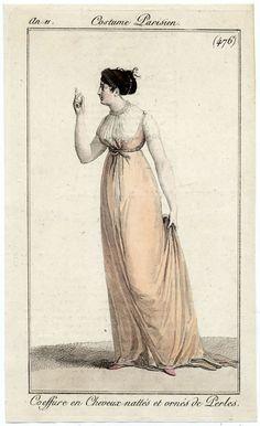 Jumper dress in Costume Parisien, c. 1805