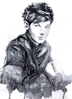 Louis Tomlinson One Direction Drawing