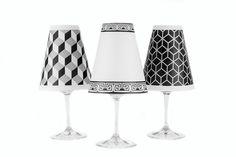"""4.5"""" New York Paper Wine Glass Lamp Shade"""