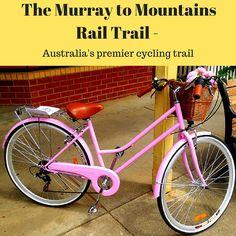 The Murray to Mountains Rail Trail - a fantastic cycling trail for leisure cyclists and familites. Australian Capital Territory, Bike Path, Cyclists, Bike Trails, South Wales, Australia Travel, Kiwi, Touring, Tennessee