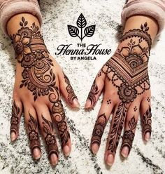 The bride requested for Hengua for her Bridal Henna work