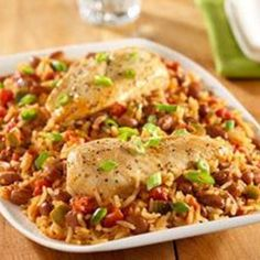 SPICY CHICKEN WITH RICE AND BEANS