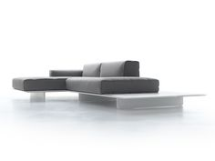 Sofá composable 2 plazas con chaiselongue FIN by MDF Italia diseño Jehs+Laub