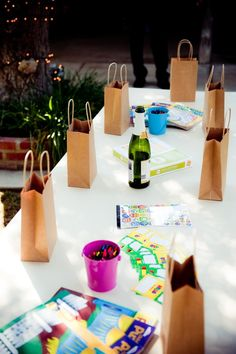 kids craft table at reception