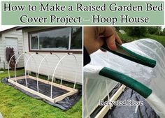 This step by step tutorial of how to make a raised garden bed cover project (Hoop House) is the best way to extend your growing season.