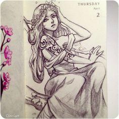 Daily Sketch by Qinni Amazing Drawings, Realistic Drawings, Manga, Fantasy, Qinni, Art Calendar, Digital Art Girl, Body Drawing, Sketchbook Inspiration
