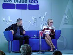 Wolf Haas auf dem Blauen Sofa   FBM 10.10.12 by Das blaue Sofa, via Flickr