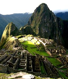 Machu Picchu, Peru At dawn, this would be the place if there was a place I would ever do it at, sigh