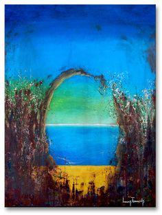 "Title: ""The Seaside"" . Size: 31.5''X23.6'' , (80X60cm) . Medium: acrylic on canvas . Year: 2015 . © art of Ioannis Tsaousidis"