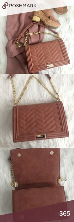 """NWT BCBG BAG New with tags dusty pink BCBG purse. Synthetic material. 11"""" x 7"""" x 3.5"""" BCBG Bags Shoulder Bags"""