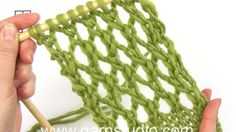 In this DROPS video we show an easy lace pattern that is used in DROPS 159-3. We work 1 garter sts in each side and we have already worked 2 reports in the height…