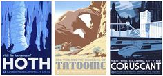 Star Wars retro-inspired travel posters.