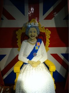 Life-size LEGO sculpture of the Queen at Hamleys toy store in London.  It's so fabulous!