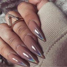 Beautiful Long Acrylic Chrome Nails 2018