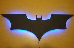 Hey, I found this really awesome Etsy listing at https://www.etsy.com/listing/225272357/batman-logo-led-wall-light-night-light