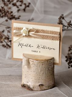 PLACE CARDS rustic