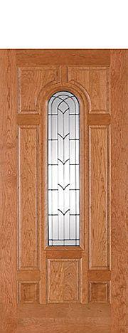 Buffelen Door BWC720 with beautiful art glass panel in the center.  We install Buffelen genuine wood doors in the Minneapolis area. http://www.replacementwindowsmpls.com