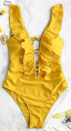 Shop for Lattice Criss Cross Ruffle Swimsuit Shop for Lattice Criss Cross Ruffle Swimsuit ZAFUL zaful One-Pieces Swimsuit You have never looked sexier than you will look nbsp hellip Cheap Swimsuits, Cut Out Swimsuits, One Piece Swimwear, One Piece Swimsuit, Strappy Bathing Suit, Bathing Suits, Criss Cross, Sport Bikini Set, Ruffle Swimsuit