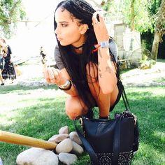 Zoe Kravitz. #boxbraids #protectivestyle