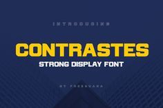 We present our new bold, strong display font, we design it for strong brands in mind, getting inspiration by robust buildings pillars, as a brand should be.