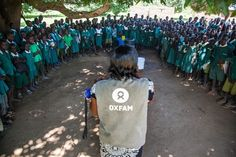 Oxfam's Patricia speaks to students about cholera prevention at the Primary…