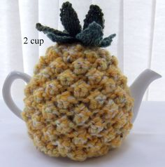 Hand knitted 2 cup Pineapple tea cosy