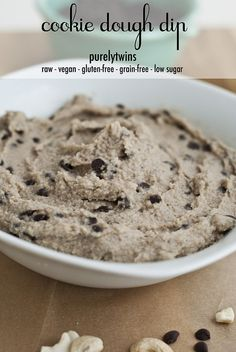See how we make super healthy and easy raw cookie dough dip in under 5 minutes! See blog for more