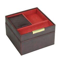 Square box, 2 dielny set / hnedá / oranžová