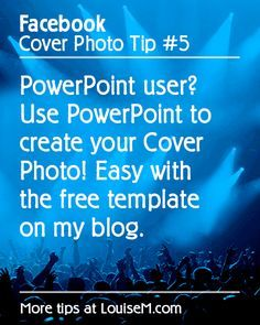 Need to create a Facebook Cover Photo for your Fan Page – but don't know where to start?  Betcha didn't know you could make one right in PowerPoint!  Easy instructions here --> http://louisem.com/4285/facebook-cover-photo-powerpoint #FacebookTips #FacebookPages #FacebookMarketing