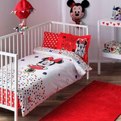 Disney Mickey Sketch Baby by BaharHomeTextile on Etsy Disney Baby Bedding, Baby Duvet, Baby Disney, Girl Nursery Bedding, Girls Bedding Sets, Pink Bedding, Duvet Cover Sizes, Duvet Covers, Mickey Mouse