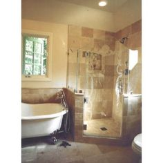corner shower with claw foot tub | Clawfoot Tub Separate Shower Design Ideas, Pictures, ... | Bathrooms ...